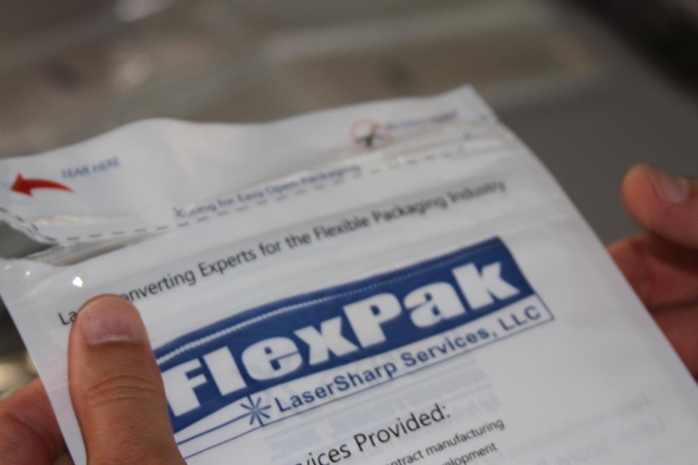 tear here bag packaging flexpak