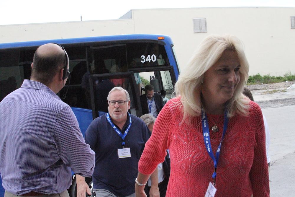 bus industrial tour visitors